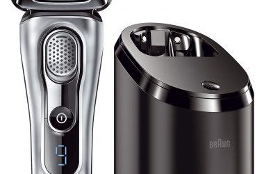 silver shaving device