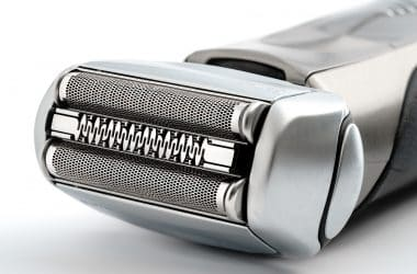 close up of a shaver