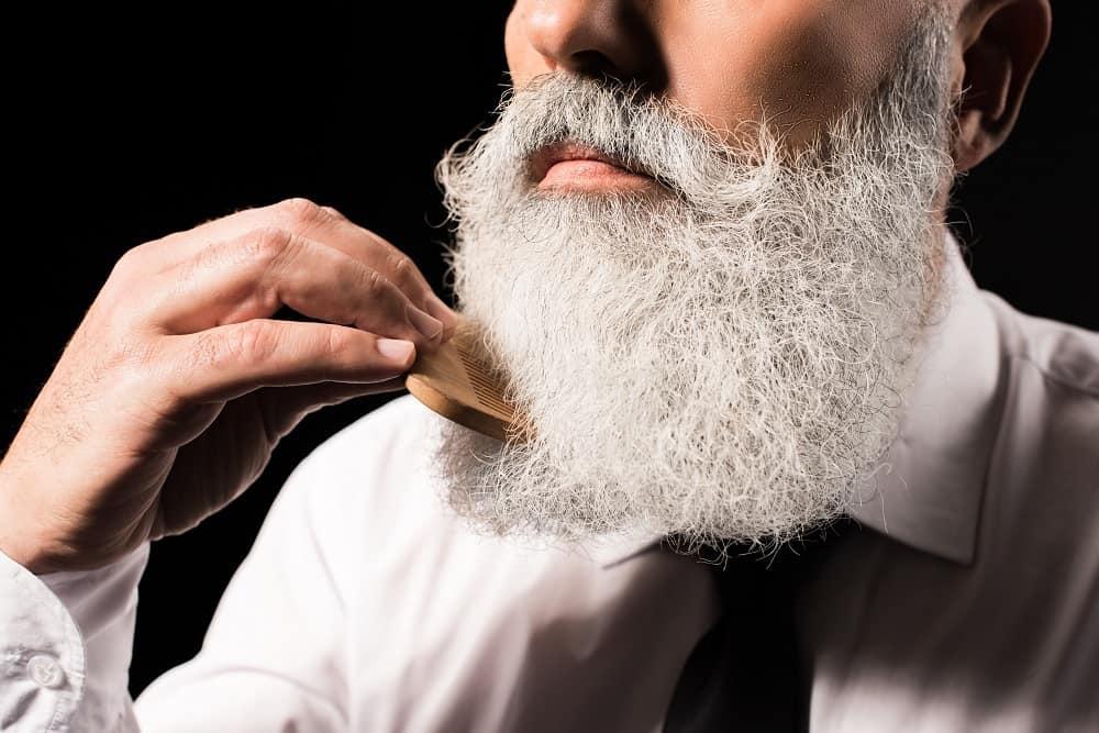 man combing