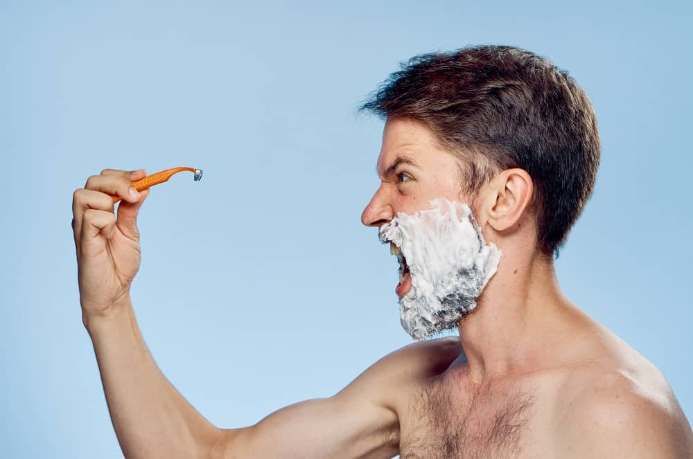 man in shaving
